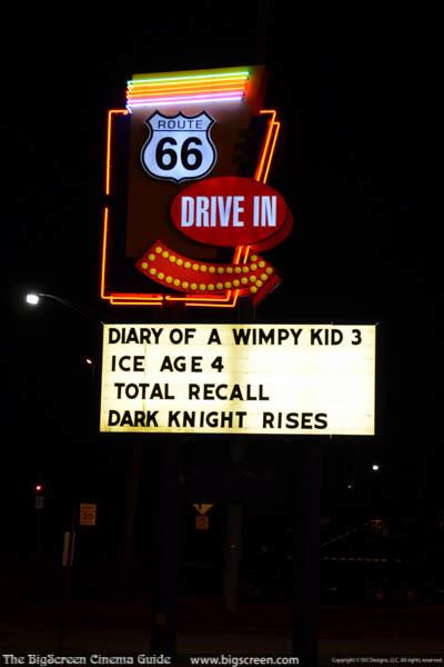 Road Sign at Night