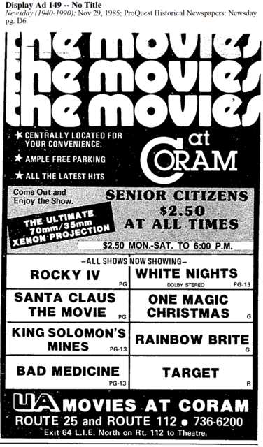 UA The Movies at Coram