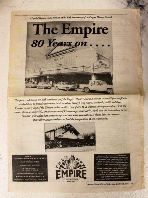 Empire Cinemas 327 Bong Bong Street, Bowral, NSW. - 1995 80 Years On.