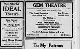 """[""""Ideal Theatre""""]"""