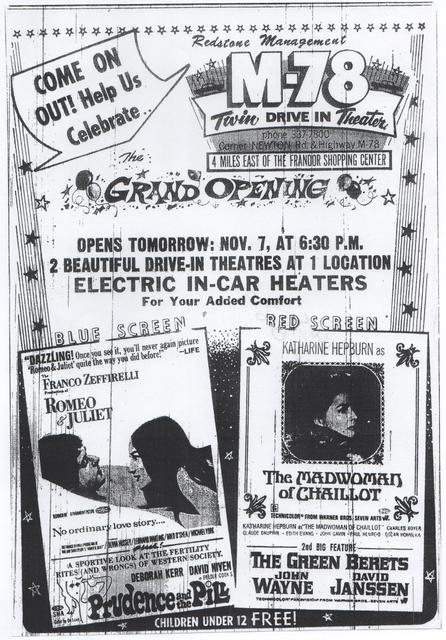 M-78 Twin opening ad 11/6/69