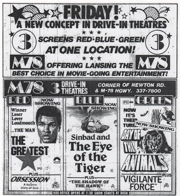 M-78 opens third screen 5/25/77