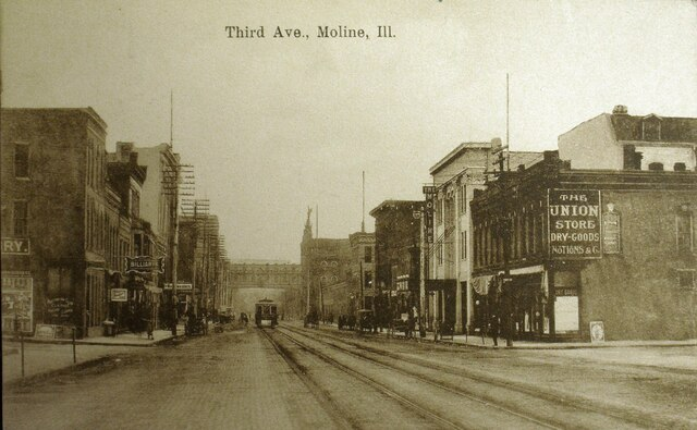 The Moline on the right, photo credit Retro Quad Cities Facebook page.