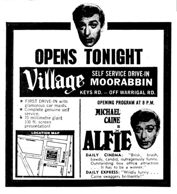 Moorabbin Village Drive-In 43 Keys Road, Moorabbin, VIC - Grand opening 1966