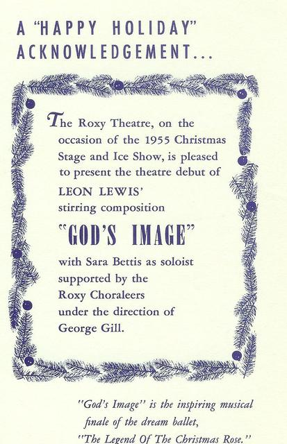 December 1955 NYC ROXY Theatre