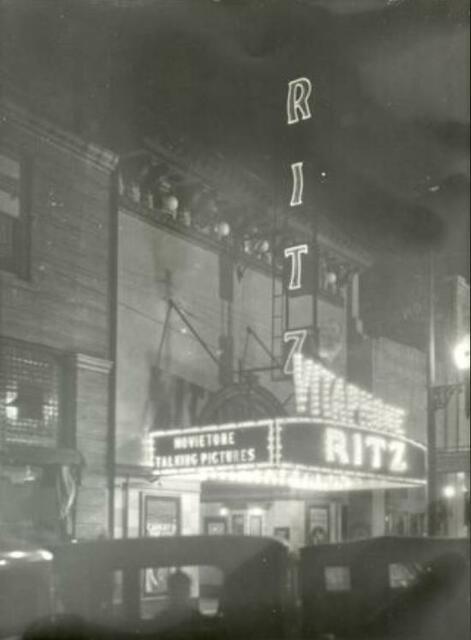 The Ritz at night