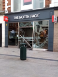 "[""Damage following an early morning vehicle hit the building. Irish Times""]"