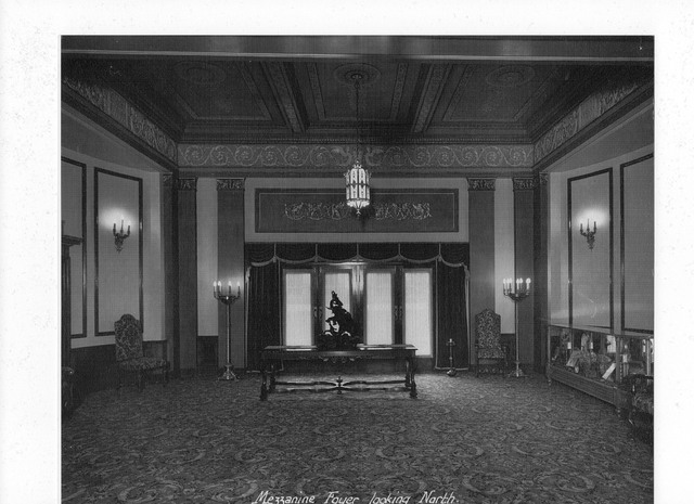 METRO THEATER  ( Later The Mayfair ) 167 Collins Street, Melbourne, Vic – Australia  - Mezzanine foyer looking north 1950's