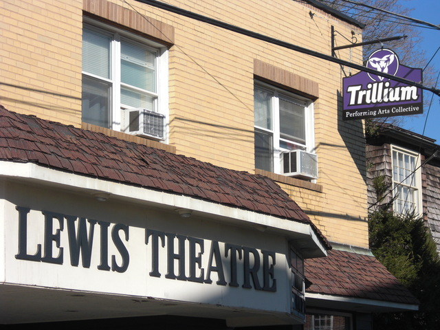 Street view of The Lewis Theatre and Trillium