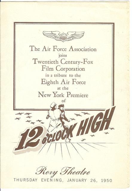 ROXY NYC premiere 1950