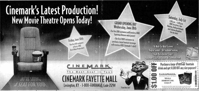 Cinemark Fayette Mall