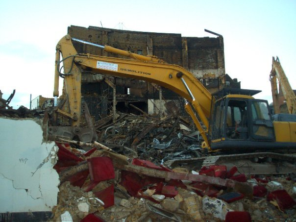 ABC Cinema during demolition