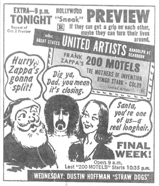 Fall 1971 print ad courtesy Windy City Ballyhoo: Chicago's Moviegoing Past.
