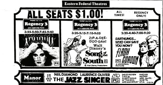 Regency Newspaper Ad - 1981