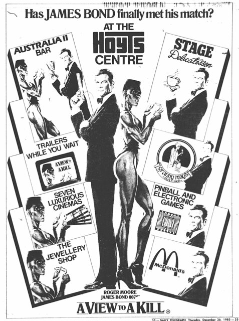 December 1985 print ad credit The Daily Telegraph via Ron Pettersson.