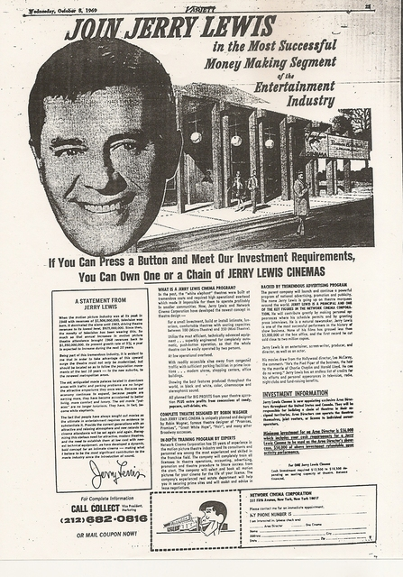 Jerry Lewis Variety Ad
