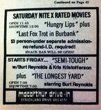 """[""""January 1978 features at The MacArthur Drive-In""""]"""