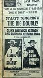 """[""""August 1969 features at The MacArthur Drive-In""""]"""