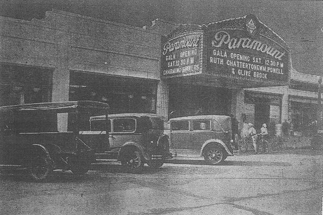 Front of the Paramount