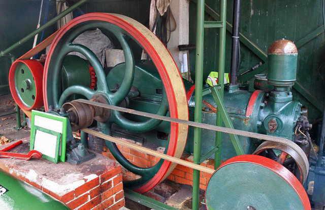 National Gas Engine recovered from an outhouse of the cinema in the 1980s.