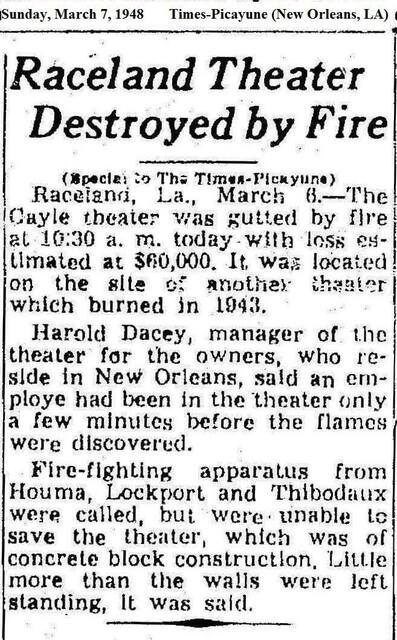 March 7, 1948 news clipping credit Times-Picayune (New Orleans, LA)