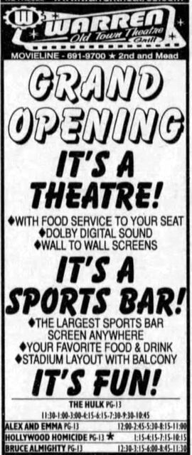 Warren Old Town Theatre Grille