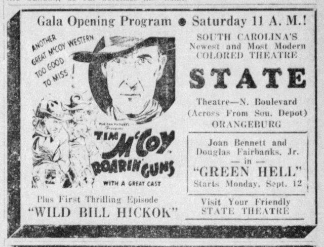September 14, 1940 Grand Opening of the State Theatre, Orangeburg