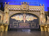 &lt;p&gt;Original proscenium arch and painted safety curtain in auditorium 1 (former stalls area).&lt;/p&gt;