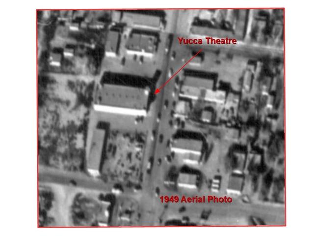 Yucca Theatre - 1949 aerial photo