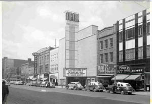 Tipton Theater before it burned
