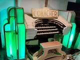 """[""""Console of the Conacher Theatre Organ""""]"""