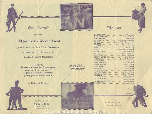1930 Globe Theatre program