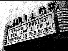 Village Theatre marquee