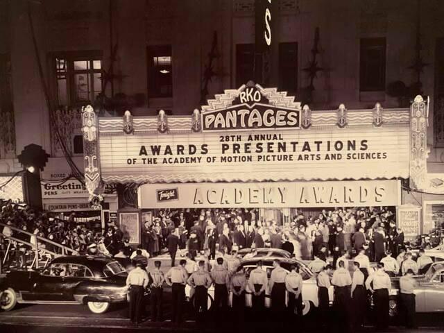 1955 Academy Awards, courtesy Behind The Scenes.