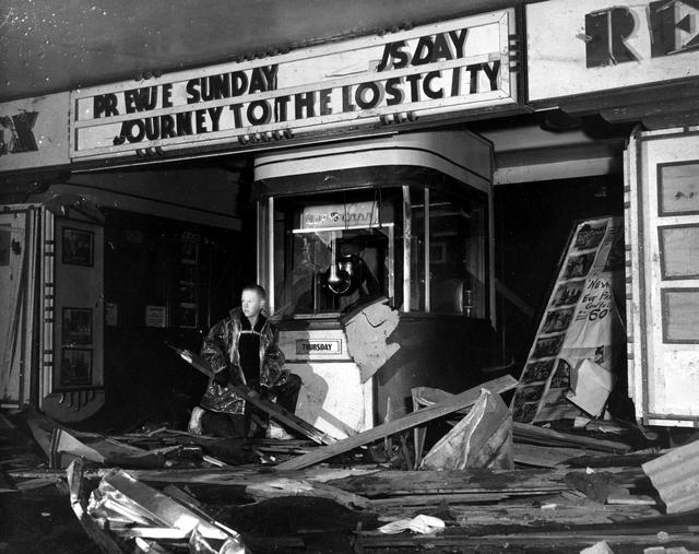 Rex Theatre N. Broadway Street, Konawa, OK 74849 after 1961 tornado.