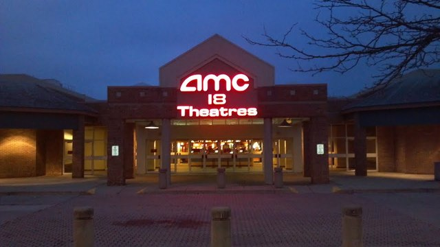 AMC Dublin Village 18 at night