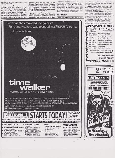 Time Walker played here in March of 1983.