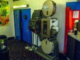 Interior view of vintage movie projector, July 2012