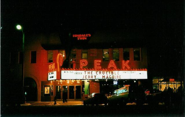 Peak Theater - Colorado Springs CO February 1997