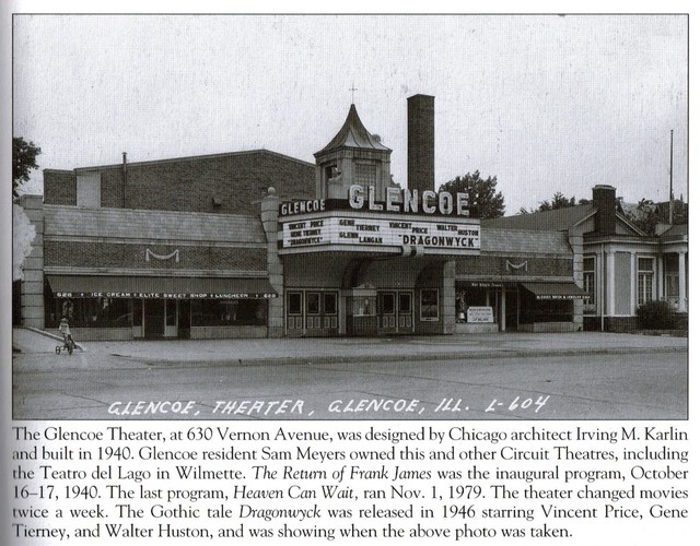 Glencoe Theater in the mid 1940's