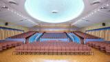"""[""""Castle Hill Theatre Interior - Now the Crossroads Church""""]"""