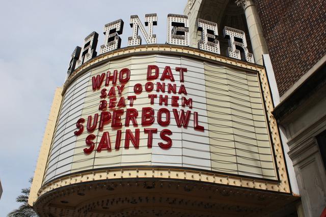 Saenger Theatre, New Orleans, LA - sign