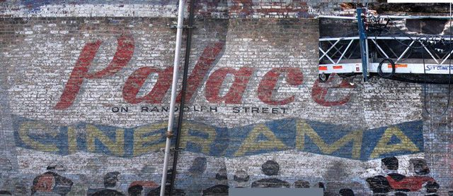 Palace Theatre Back Wall/Ghots Sign. Photo credit: Steve Kraus