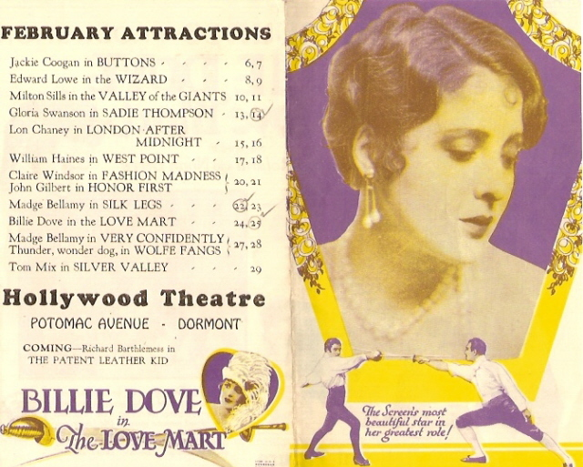THE LOVE MART (1927) Herald from the Hollywood Theatre