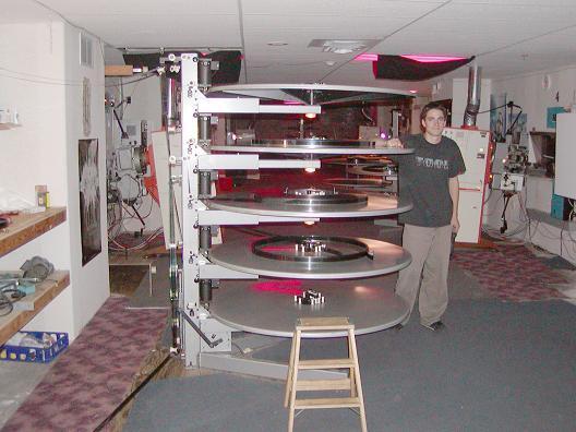 Five deck platter