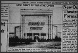 1948 Air Base Drive-In Article from the Florida Times Union