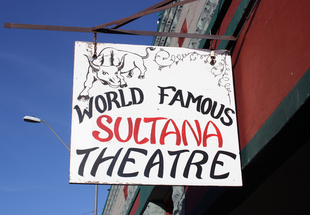Sultana Theatre, Williams, AZ - sign