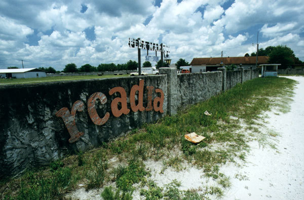 Arcadia Drive-In Wall and Ticket Booth