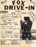 Bikini Night Flyer for the Fox Drive-In