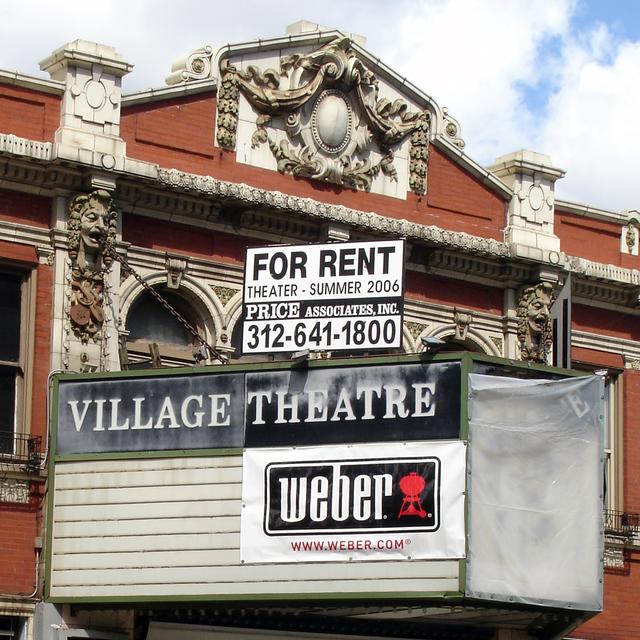 Village Theatre, Chicago, IL - marquee